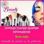 Jornada Puertas Abiertas Informativas Beauty School Estética y Maquillaje Profesional